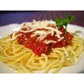 homemade spaghetti and meat sauce
